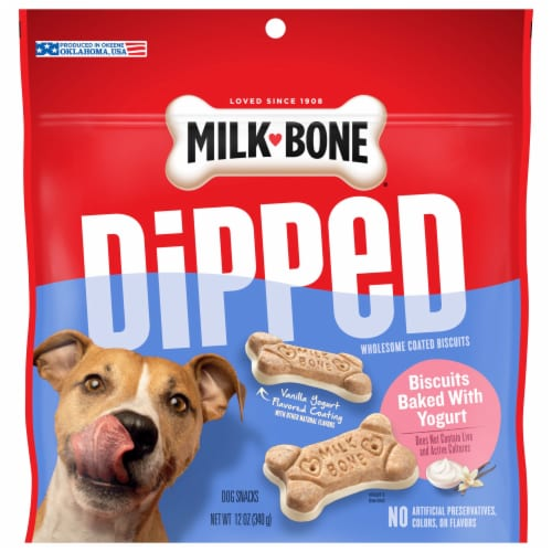 Milk-Bone Dipped Vanilla Yogurt Dog Treats Perspective: front
