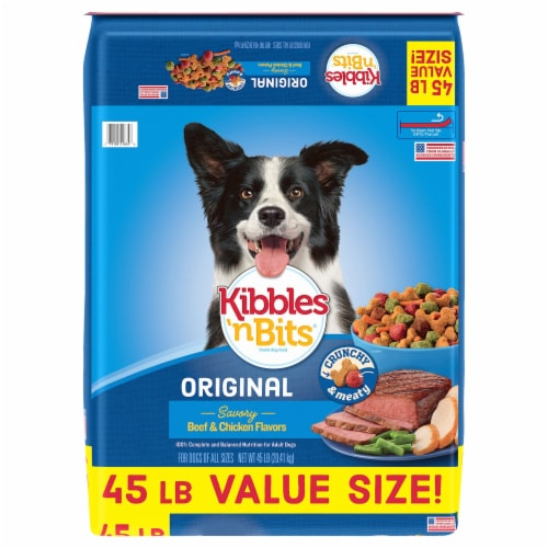 Kibbles 'N Bits Original Beef & Chicken Dry Dog Food Perspective: front