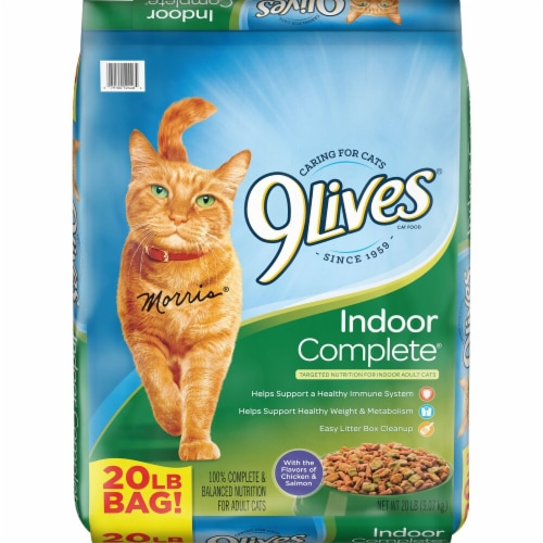 9Lives Indoor Complete Dry Cat Food Perspective: front