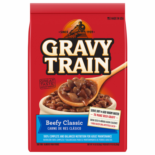 Gravy Train Beefy Classic Flavor Dry Dog Food Perspective: front