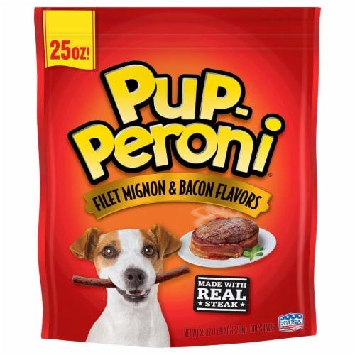Pup-Peroni Filet Mignon & Bacon Flavor Dog Treats Perspective: front