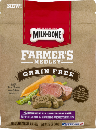 Milk-Bone Farmer's Medley Grain Free with Lamb & Spring Vegetables Perspective: front