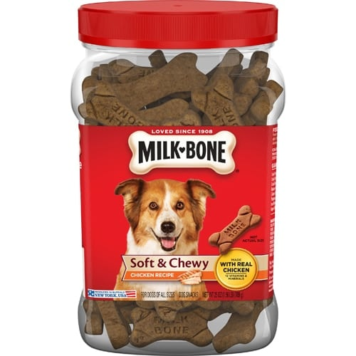 Milk-Bone Soft & Chewy Chicken Recipe Dog Treats Case Perspective: front
