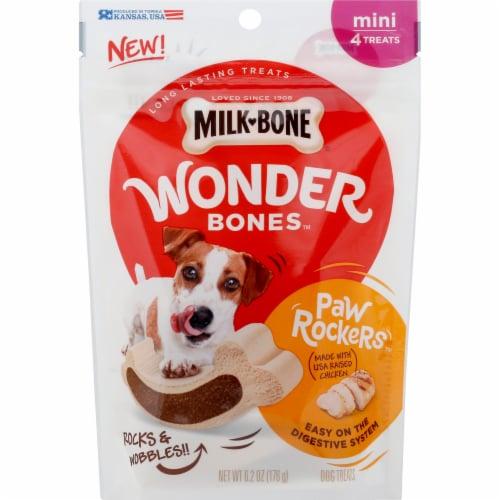 Milk-Bone Chicken Paw Rockers Wonder Bones Mini Dog Treats Perspective: front