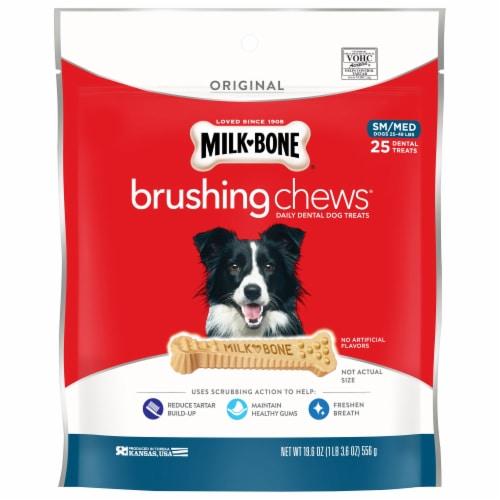 Milk-Bone Small/Medium Brushing Chews Daily Dental Dog Treats Perspective: front