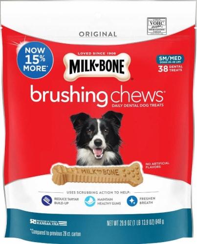 Milk-Bone Brushing Chews Daily Dental Small/Medium Dog Treats Perspective: front
