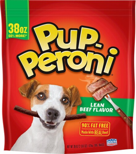 Pup-Peroni Lean Beef Flavor Dog Snack Perspective: front