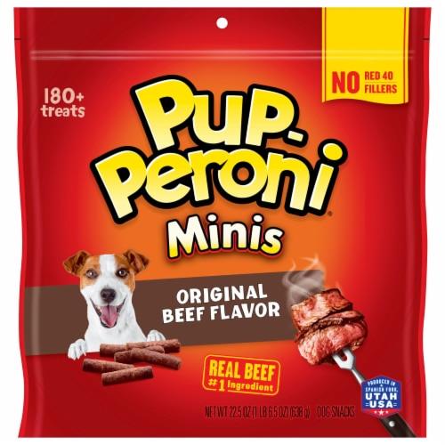 Pup-Peroni Mini Dog Treats - Original Beer Perspective: front