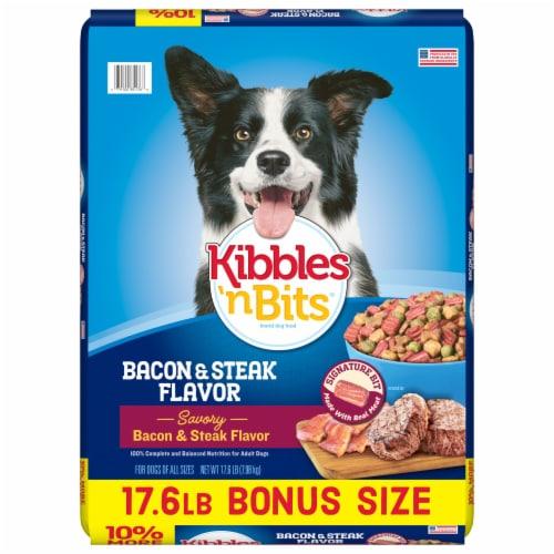 Kibbles 'n Bits Bacon & Steak Flavor Dry Dog Food Perspective: front