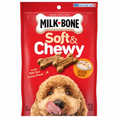 Milk-Bone Soft & Chewy Chicken Dog Snacks Perspective: front