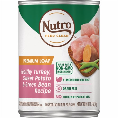 Nutro 12.5oz Trky/Swpt Dogfood 791337 Perspective: front