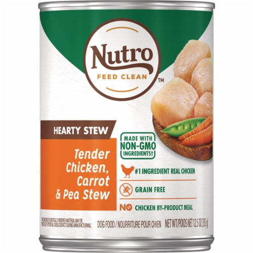 Nutro Hearty Chicken Carrot & Pea Stew Wet Dog Food Perspective: front