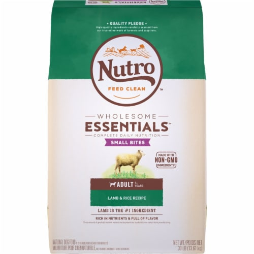 Nutro Wholesome Essentials™  Lamb & Rice Small Bites Adult Dog Food Perspective: front