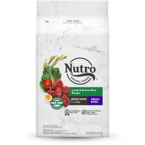 Nutro Wholesome Essentials Small Bites Adult Lamb & Rice Recipe Dry Dog Food Perspective: front