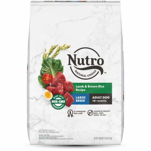 Nutro Wholesome Essentials Lamb & Rice Recipe Large Breed Dry Adult Dog Food Perspective: front