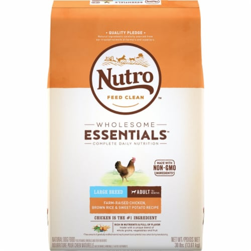 Nutro Wholesome Essentials Large Breed Chicken Brown Rice & Sweet Potato Adult Dry Dog Food Perspective: front