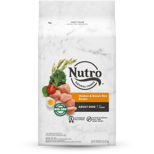Nutro Natural Choice Chicken & Brown Rice Recipe Adult Dry Dog Food Perspective: front