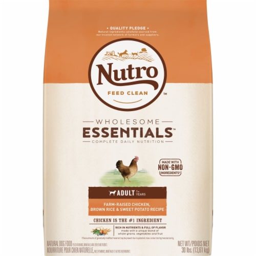 Nutro Natural Choice Chicken Brown Rice Recipe Adult Dry Dog Food Perspective: front