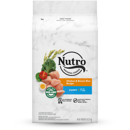 Nutro Natural Choice Chicken & Brown Rice Puppy Dry Dog Food Perspective: front
