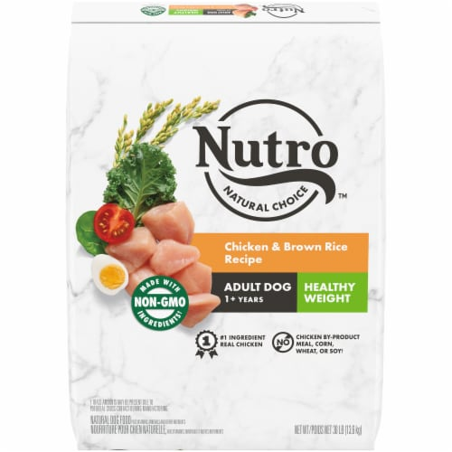Nutro Wholesome Essentials Healthy Weight Chicken Lentils & Sweet Potato Adult Dog Food Perspective: front