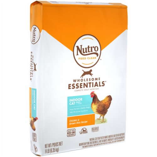 Nutro Wholesome Essentials Indoor Cat Salmon & Brown Rice Recipe Adult Dry Cat Food Perspective: front