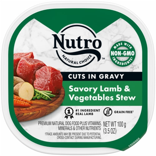 Nutro Grain Free Lamb & Vegetables Stew Cuts in Gravy Wet Dog Food Perspective: front