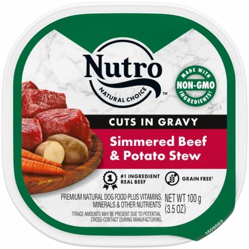 Nutro Grain Free Beef & Potato Stew Cuts in Gravy Wet Dog Food Perspective: front