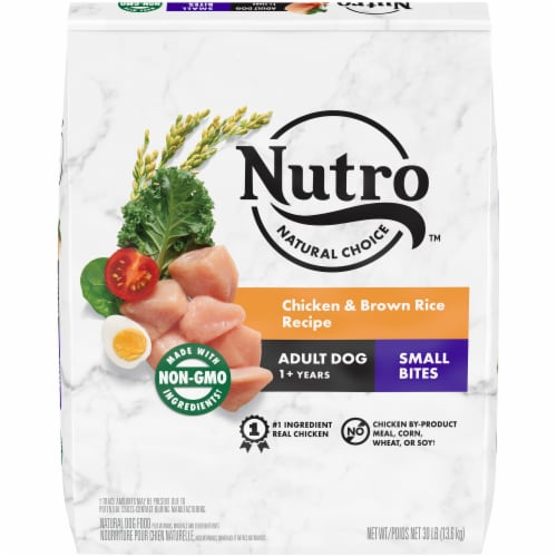 Nutro Wholesome Essentials Small Bites Chicken Brown Rice & Sweet Potato Adult Dry Dog Food Perspective: front