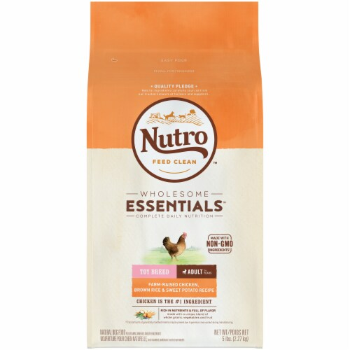 Nutro Wholesome Essentials Chicken Brown Rice & Sweet Potato Recipe Dog Food Perspective: front