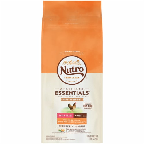 Nutro Wholesome Essentials Chicken Brown Ride & Sweet Potato Small Breed Dry Adult Dog Food Perspective: front
