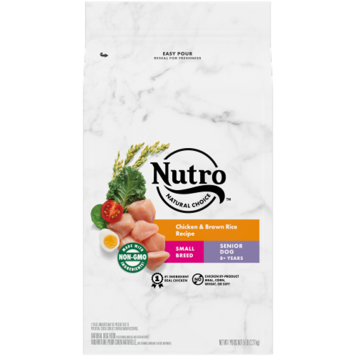 Nutro Wholesome Essentials Chicken Brown Rice & Sweet Potato Recipe Small Breed Senior Dry Dog Food Perspective: front