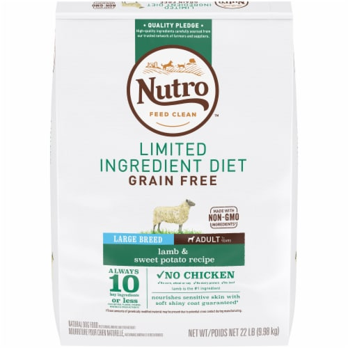 Nutro Large Breed Limited Ingredient Diet Lamb & Sweet Potato Recipe Dry Adult Dog Food Perspective: front