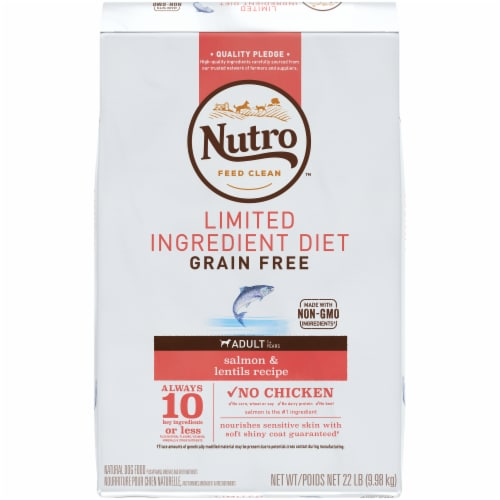 Nutro Limited Ingredient Diet Grain Free Salmon & Lentils Adult Dry Dog Food Perspective: front