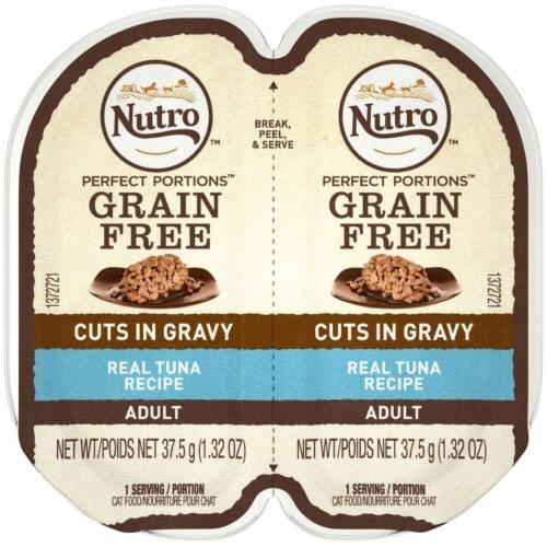 Nutro 79105123105 Perfect Portions Cuts in Gravy Tuna Recipe Cat Food, 24ea & 2.65 oz Perspective: front