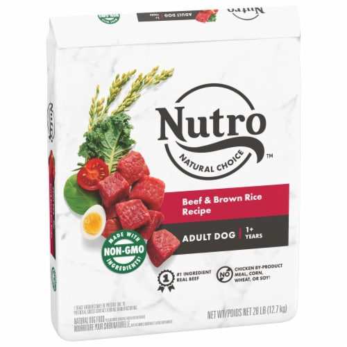 Nutro Natural Choice Beef & Brown Rice Adult Natural Dry Dog Food Perspective: front