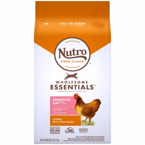 Nutro Wholesome Essentials Chicken Rice & Peas Recipe Sensitive Cat Food Perspective: front