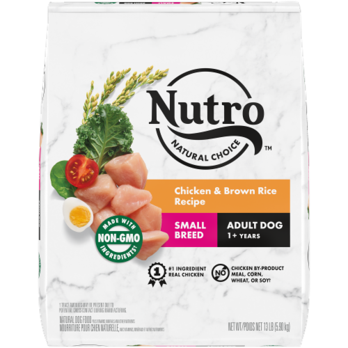 Nutro Natural Choice Small Breed Chicken & Brown Rice Recipe Adult Dry Dog Food Perspective: front