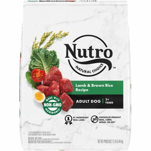 Nutro Natural Choice Lamb & Brown Rice Recipe Adult Dry Dog Food Perspective: front