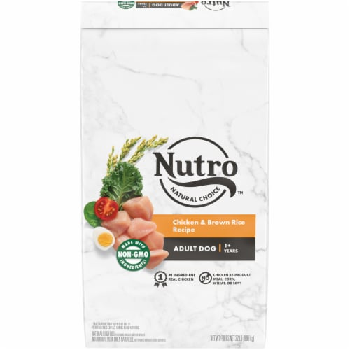 Nutro Wholesome Essentials Chicken Brown Rice & Sweet Potato Adult Dry Dog Food Perspective: front