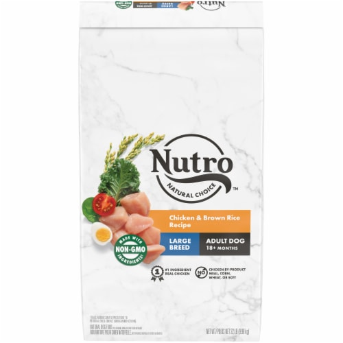 Nutro Wholesome Essentials Large Breed Chicken Brown Rice & Sweet Potato Recipe Adult Dry Dog Food Perspective: front