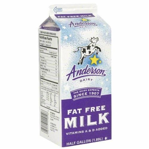 Anderson Dairy Fat Free Milk Perspective: front
