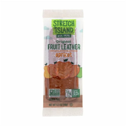 Stretch Island Fruit Leather Strip - Abundant Apricot - .5 oz - Case of 30 Perspective: front