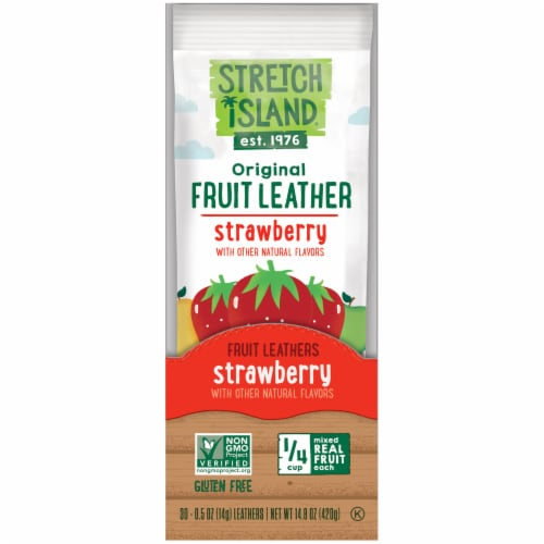 Stretch Island Strawberry Fruit Leather 30 Count Perspective: front