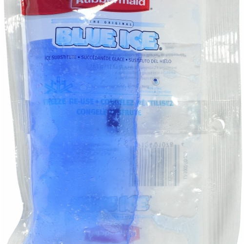 Rubbermaid FG1002VT220 6.6 x 0.8 x 4.5 in. Ice Lunch Pack, Blue - Pack of 2 Perspective: front