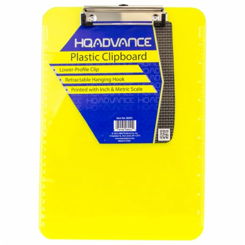 HQ Advance Plastic Clipboard - Assorted Perspective: front