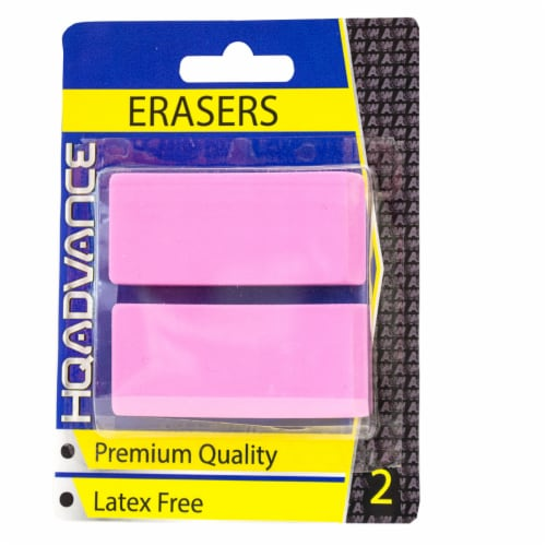HQ Advance Blister Erasers - Pink Perspective: front