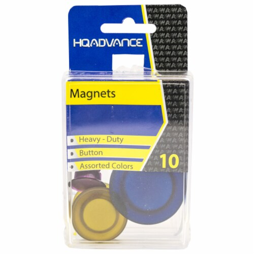 HQ Advance Heavy Duty Button Magnets Perspective: front