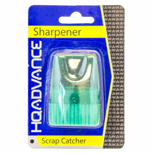 HQ Advance Glitter Pencil Sharpener - Green Perspective: front
