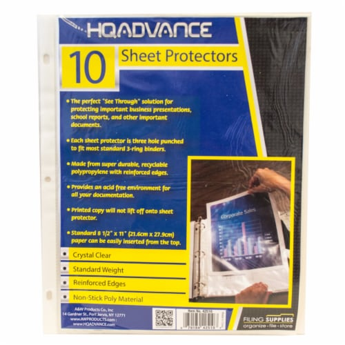 HQ Advance Sheet Protectors Perspective: front