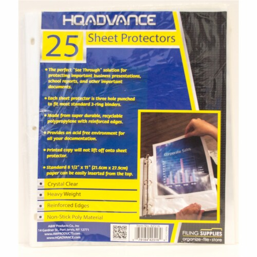 HQ Advance Sheet Protectors - Crystal Clear Perspective: front
